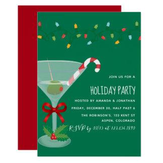 Invitation orientée de fête de Noël de cocktail de