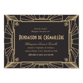 Invitation orientée de partie de pendaison de 1920 12,7x17,8 uitnodiging kaart