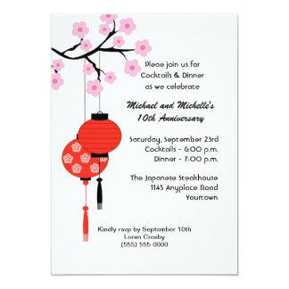 Invitation orientée japonaise d'anniversaire