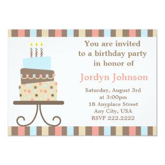 Invitation personnalisable de gâteau