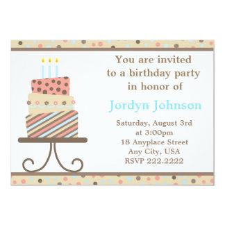 Invitation personnalisable de partie de gâteau