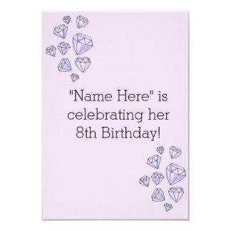 Invitation personnalisée d'anniversaire de fille