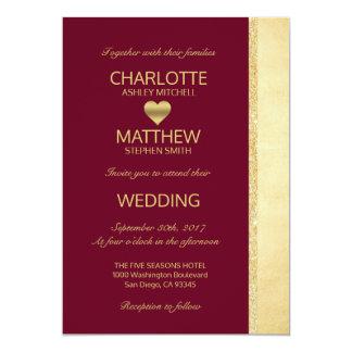 Invitation personnalisée de mariage de automne