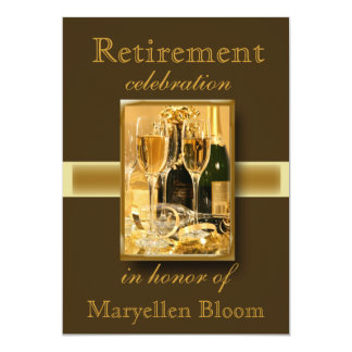 Invitation personnalisée de partie de retraite