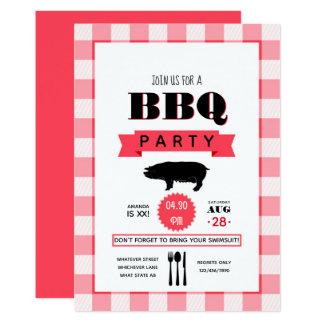 Invitation personnalisée par barbecue