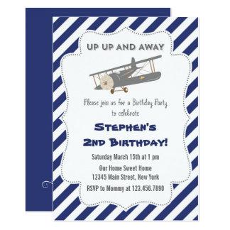 Invitation plate vintage de fête d'anniversaire
