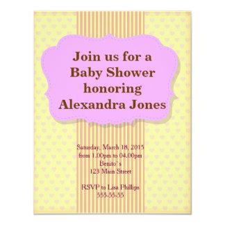 Invitation pour des filles de baby shower