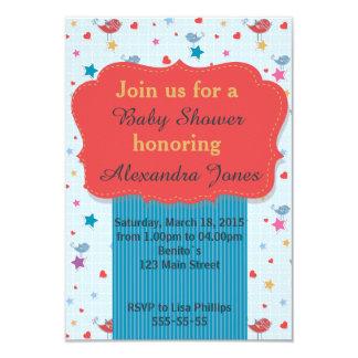 Invitation pour le bleu de baby shower