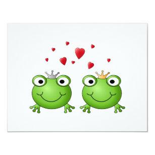 Invitation Prince de grenouille et princesse de grenouille,