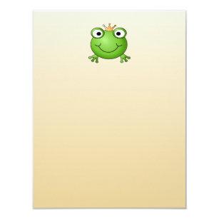 Invitation Prince de grenouille. Grenouille de sourire avec