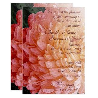 Invitation rose 2 de mariage de chrysanthème carton d'invitation  12,7 cm x 17,78 cm