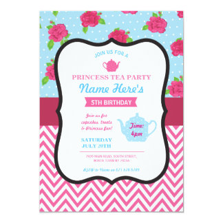 Invitation rose d'anniversaire d'Alice de