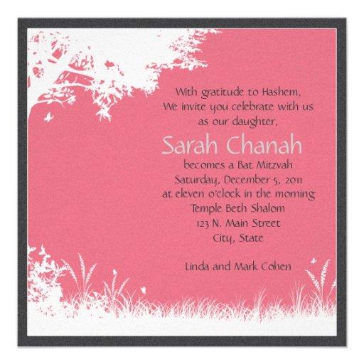 Invitation rose d'arbre