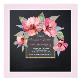 Invitation rose de cornouiller