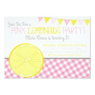 Invitation rose de fête d'anniversaire de filles