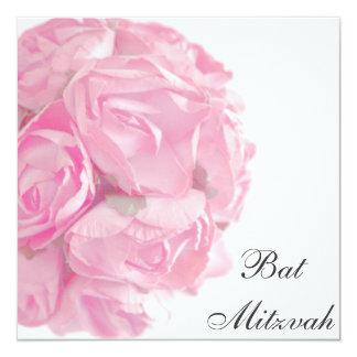 Invitation rose majestueuse de bat mitzvah de