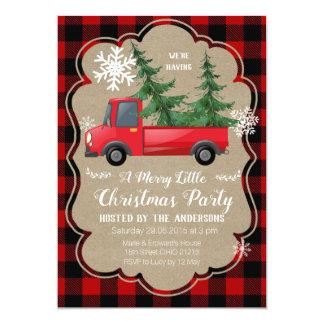 Invitation rouge de fête de vacances de Noël de