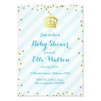 Invitation royale de prince baby shower
