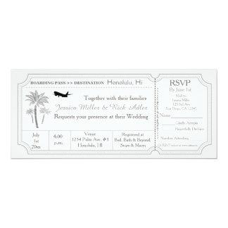 Invitation RSVP de billet de destination de