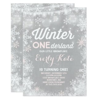 Invitation rustique d'anniversaire d'ONEderland