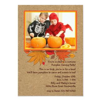 Invitation rustique de Halloween de photo