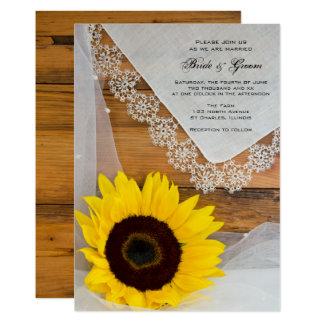 Invitation rustique de mariage campagnard de