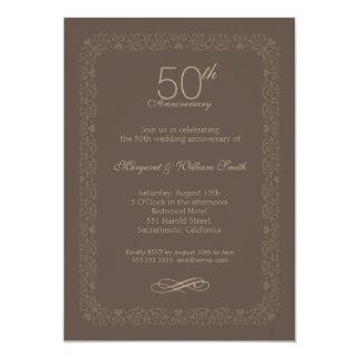 Invitation rustique vintage d'anniversaire de