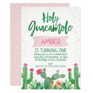 Invitation sainte d'anniversaire de guacamole de