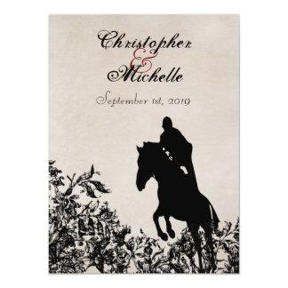 Invitation sautant de mariage de cheval avec la