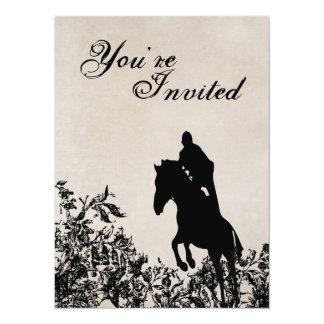 Invitation sautante d'anniversaire de cheval