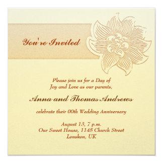 invitation simple d'anniversaire de mariage
