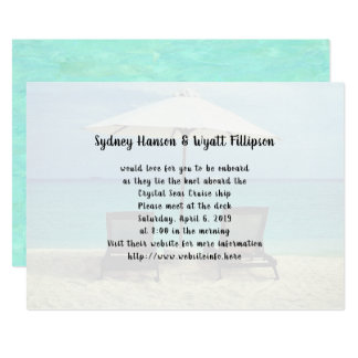 Invitation simple de chaises de plage de mariage
