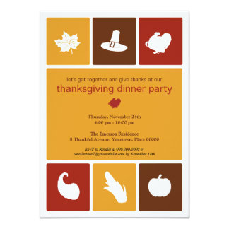 Invitation simple de dîner de thanksgiving