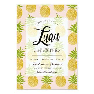 Invitation snob de Luau d'ananas