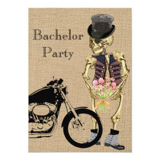 Invitation squelettique d'enterrement de vie de