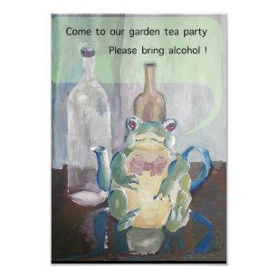 Invitation thé de grenouille