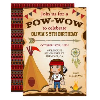 Invitation tribal de partie d'anniversaire de