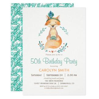 Invitation turquoise et orange de fête
