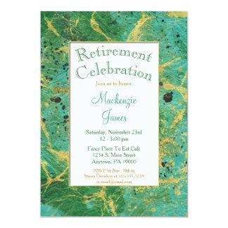Invitation turquoise verte de retraite d'abrégé