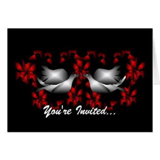 Invitation vide de colombes d'amour carte de vœux