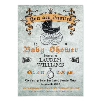 Invitation vintage de baby shower