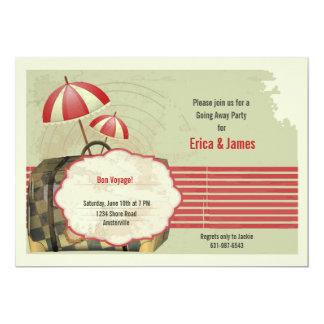 Invitation vintage de carte postale de voyage de