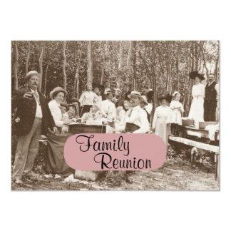 Invitation vintage de la Réunion de partie de
