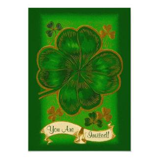 Invitation vintage de partie du jour de St Patrick