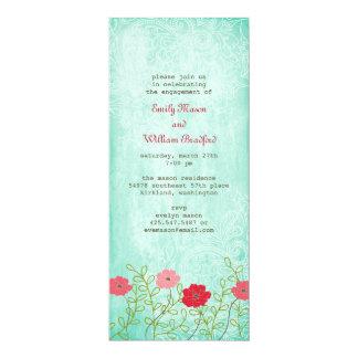 Invitation vintage florale et de feuille