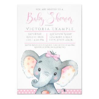 Invitations adorables de baby shower d'éléphant de