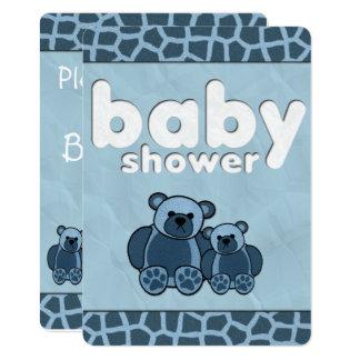 Invitations bleues de baby shower