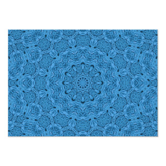 Invitations bleues décoratives, enveloppes