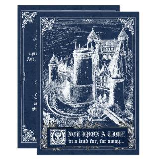 Invitations bleus de mariage de livre de contes de