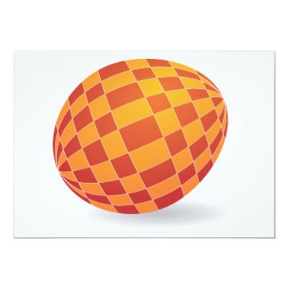Invitations Checkered d'oeuf de pâques